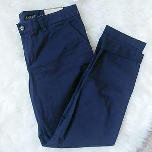 GAP khaki pants broken in straight crop navy